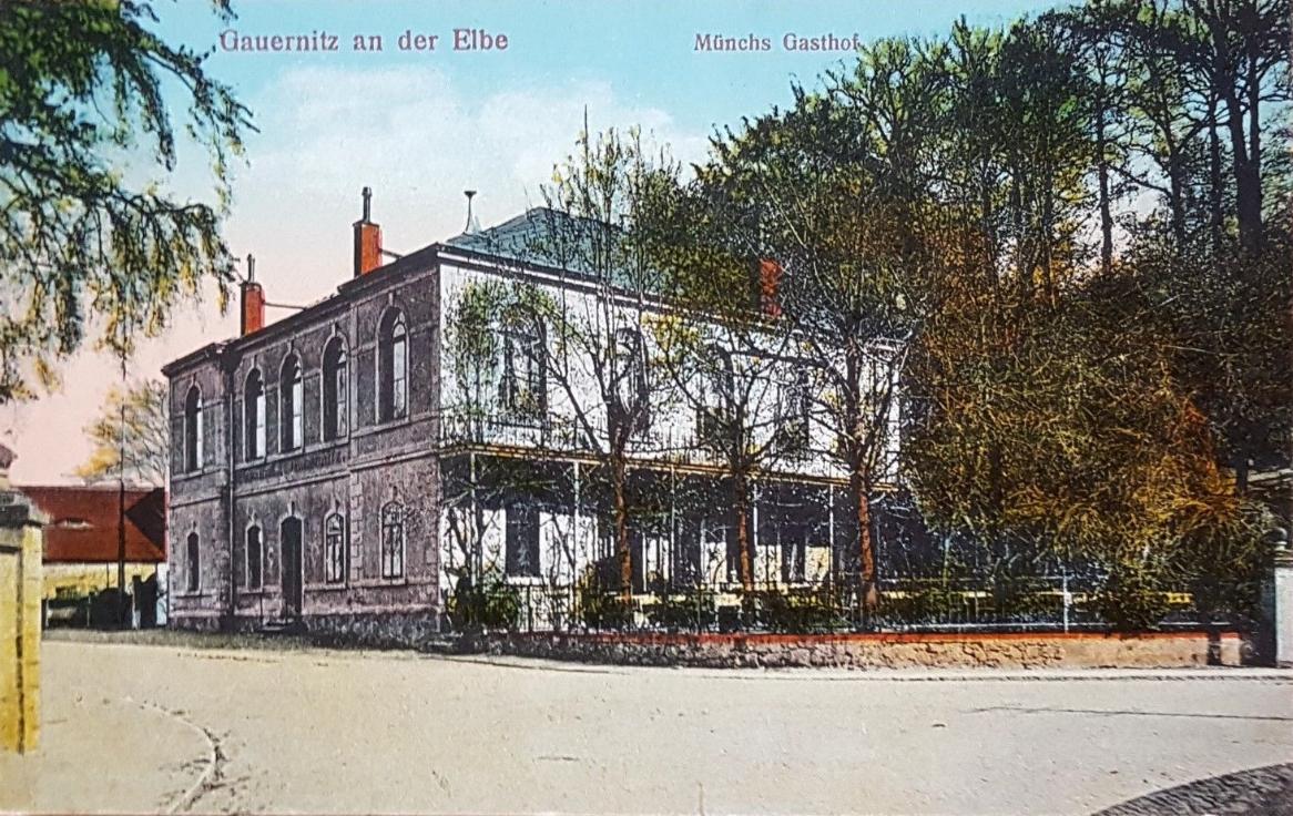 Münchs Gasthof, Postkarte Nr. 22247, Verlag Brück & Sohn, Meißen